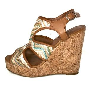 Lucky Brand Riedel Wedges | Bohemian Style EUC
